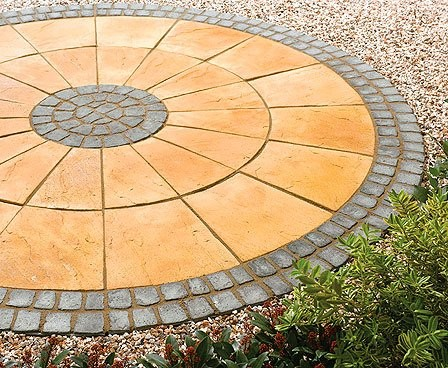 Old Riven Paving Circles height=